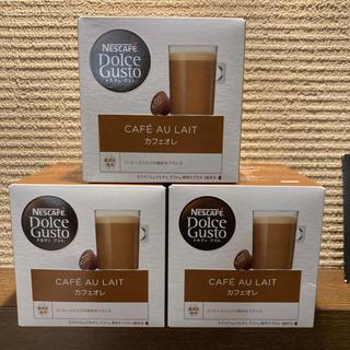 ネスレ(Nestle)のネスカフェ ドルチェグスト カフェオレ 16杯分✖️3箱(コーヒー)