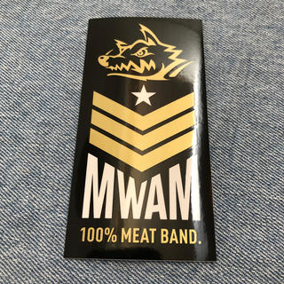 MAN WITH A MISSION - マンウィズ  2020年度 100% MEAT BAND ステッカー 未使用