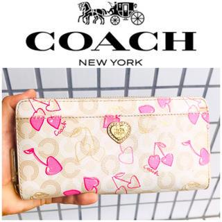 COACH - 大丸購入■正規品■レア■COACH コーチ 財布 さくらんぼ チェリー