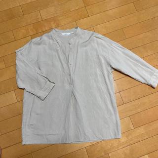UNIQLO - ユニクロリネンブレンドスキッパーシャツ