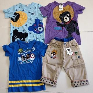 DOUBLE.B - お値下げ 新品 130 4点 豪華ミキハウス ダブルB Tシャツ パンツ