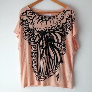 ツモリチサト(TSUMORI CHISATO)のツモリチサト⑤  リボンTシャツ(Tシャツ(半袖/袖なし))