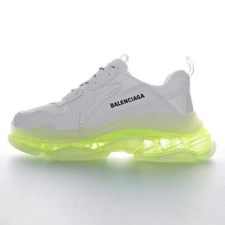 Balenciaga - Balenciaga Triple S White/Lemon Green