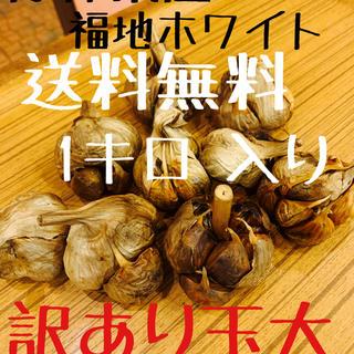 黒にんにく 青森県産福地ホワイト 訳あり玉1キロ (野菜)