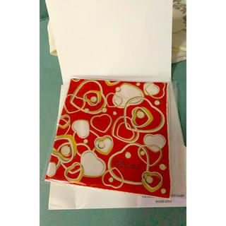 ショパール(Chopard)の非売品 Chopard ショパール ハッピーハート スカーフ シルク イタリア製(バンダナ/スカーフ)