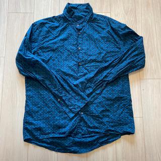 マルニ(Marni)のマルニ メンズシャツ ドット柄 グリーン コットンシャツ MARNI 48(シャツ)