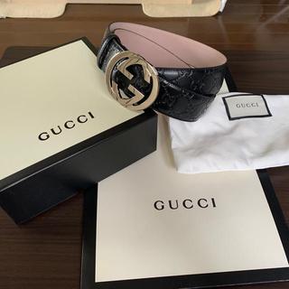 Gucci - 特価土日だけGucci グッチベルト GG ブラック