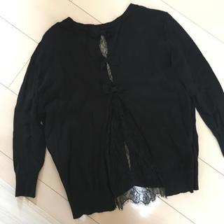 ダブルスタンダードクロージング(DOUBLE STANDARD CLOTHING)のダブルスタンダード⭐︎Sov.レースリボンカーディガン36(カーディガン)