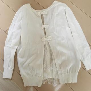 ダブルスタンダードクロージング(DOUBLE STANDARD CLOTHING)のダブルスタンダード⭐︎Sov.レースリボンカーディガン38(カーディガン)