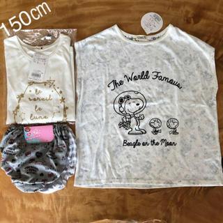 ブランシェス(Branshes)の新品 150 女の子 3点セット(Tシャツ/カットソー)