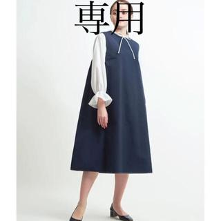 ドゥロワー(Drawer)のyori グログランノースリーブワンピース (ひざ丈ワンピース)