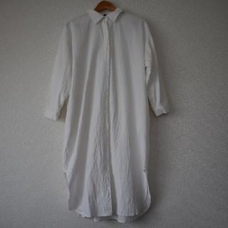 ディーホリック(dholic)のABITOKYO ロングシャツワンピース 白 袖ボリューム(ロングワンピース/マキシワンピース)