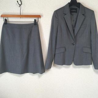 グリーンレーベルリラクシング(green label relaxing)のグリーンレーベル スカートスーツ 36 W66 グレー 未使用に近い DMW(スーツ)