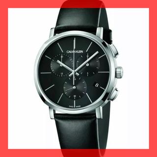 カルバンクライン(Calvin Klein)のカルバンクライン 黒文字盤 腕時計 スイス クロノグラフ デイト 30m防水(腕時計(アナログ))