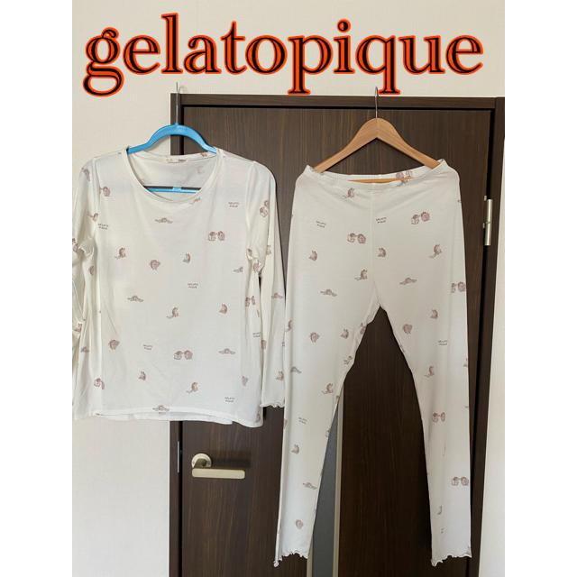 gelato pique(ジェラートピケ)のジェラートピケ 上下 セットアップ レディースのルームウェア/パジャマ(ルームウェア)の商品写真