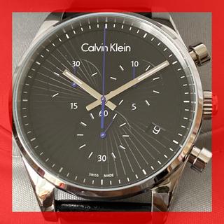 カルバンクライン(Calvin Klein)の新品 カルバンクライン スイス 黒文字盤 クロノグラフ デイト 50m防水(腕時計(アナログ))