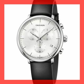 カルバンクライン(Calvin Klein)の新品 カルバンクライン シルバー腕時計 スイス クロノグラフ デイト 30m防水(腕時計(アナログ))