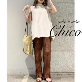 who's who Chico - 新品¥6490【Chico】シアーワッシャーパンツ  ブラウン