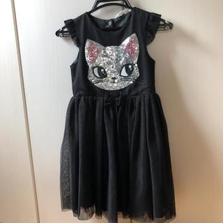 エイチアンドエム(H&M)の猫ちゃんドレス激カワ♡130(ドレス/フォーマル)