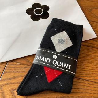 マリークワント(MARY QUANT)の新品 マリークワント アーガイル ソックス 黒(ソックス)