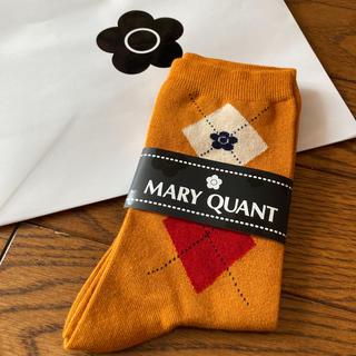 マリークワント(MARY QUANT)の新品 マリークワント アーガイル 靴下 ソックス イエロー(ソックス)