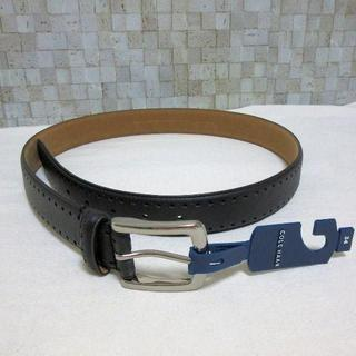 コールハーン(Cole Haan)の新品タグ付き コールハーン 高級メンズベルト ブラック 85cm M程度(ベルト)