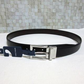 コールハーン(Cole Haan)の新品 コールハーン 黒と茶のリバーシブル 高級メンズレザーベルト36インチ XL(ベルト)