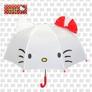 サンリオ(サンリオ)のSALL!! 新品 サンリオ 耳付き傘 キッズアンブレラ「ハローキティ」(傘)