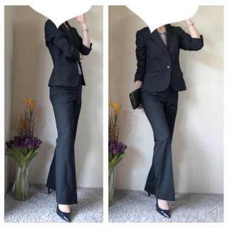 スーツカンパニー(THE SUIT COMPANY)のスーツカンパニー セットアップ 美脚 パンツスーツ M 黒 面接 通勤 冠婚葬祭(スーツ)