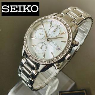 セイコー(SEIKO)のスワロフスキーダイヤ★セイコー クロノグラフ SEIKO レディース腕時計(腕時計)
