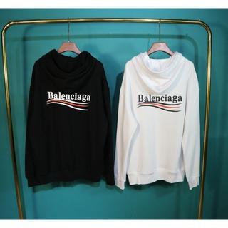 Balenciaga - BALENCIAGA 2816 男女兼用 プリント パーカー 2枚14000円