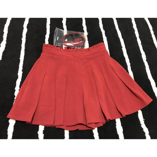 ダズリン(dazzlin)のdazzlin  ベルト付き パンピング プリーツ キュロット スカート(ひざ丈スカート)