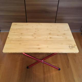 チャムス(CHUMS)の美品 チャムス CAUMS バンブーサイドテーブル ケース付(テーブル/チェア)