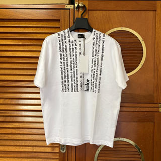 カラー(kolor)のKolor 20ss ラベルTシャツ サイズ1(Tシャツ/カットソー(半袖/袖なし))