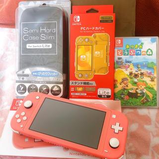 Nintendo Switch - 【美品】ニンテンドー スイッチライト コーラル Switch 本体