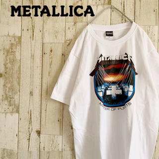 新品 未使用 メタリカ バンドTシャツ XL ゆるダボ バックプリント Tシャツ