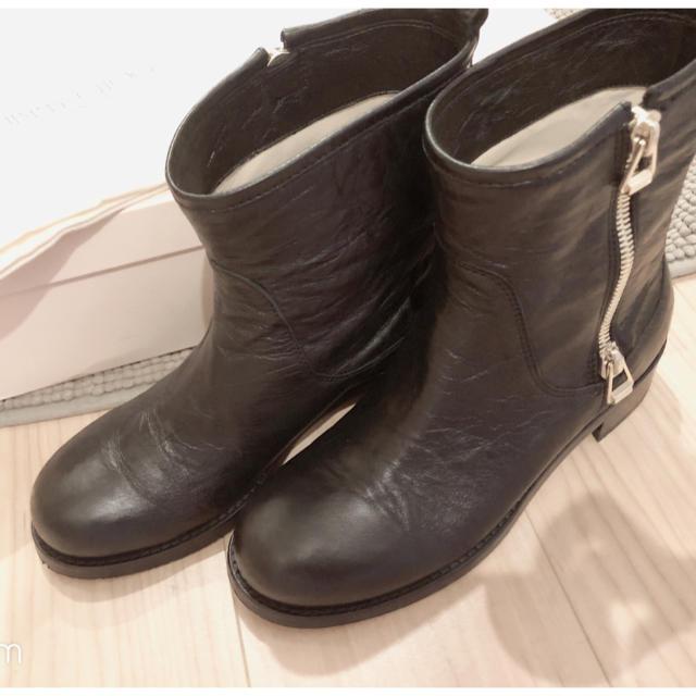 JIMMY CHOO(ジミーチュウ)の専用】jimmychoo ジミーチュウ ショート エンジニアバイカーブーツ  レディースの靴/シューズ(ブーツ)の商品写真