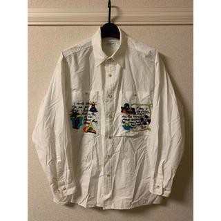 カステルバジャック(CASTELBAJAC)のカステルバジャック Castelbaiac シャツ 長袖 刺繍 白 ホワイト2(シャツ)