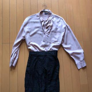 ブリスポイント(BLISS POINT)のスモーキーピンク とろみシャツ(シャツ/ブラウス(長袖/七分))