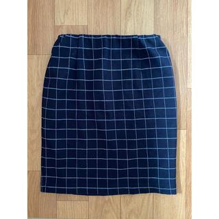 ナチュラルビューティーベーシック(NATURAL BEAUTY BASIC)のネイビー スカート ナチュラルビューティーベーシック(ひざ丈スカート)