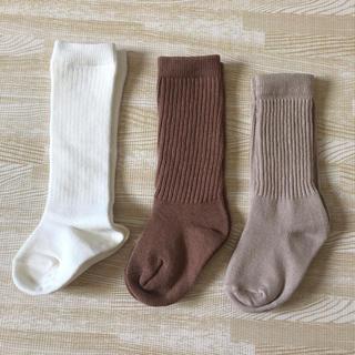 MUJI (無印良品) - 【未使用】ベビー リブハイソックス 無印良品 びすく 韓国子供服 靴下