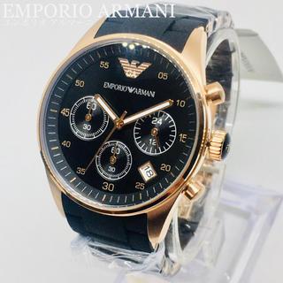 Emporio Armani - 新品★エンポリオ アルマーニ 腕時計 レディース クロノグラフ ブラック