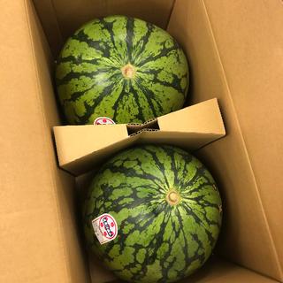 山形県産尾花沢西瓜1箱2個入り(野菜)