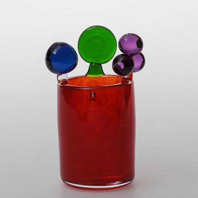iittala(イッタラ)のscope別注 iittala ポムポムベース red 限定生産 オイバトイッカ インテリア/住まい/日用品のインテリア小物(置物)の商品写真