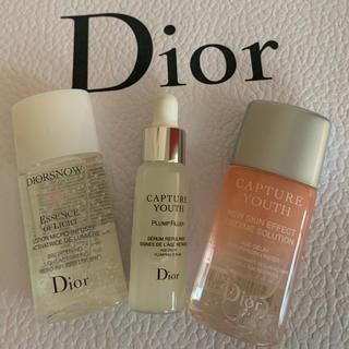 クリスチャンディオール(Christian Dior)のディオール スキンケアサンプル3点(美容液)