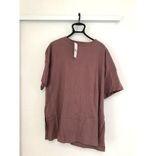 GU - GU ディープスリット チュニックTシャツ5分袖