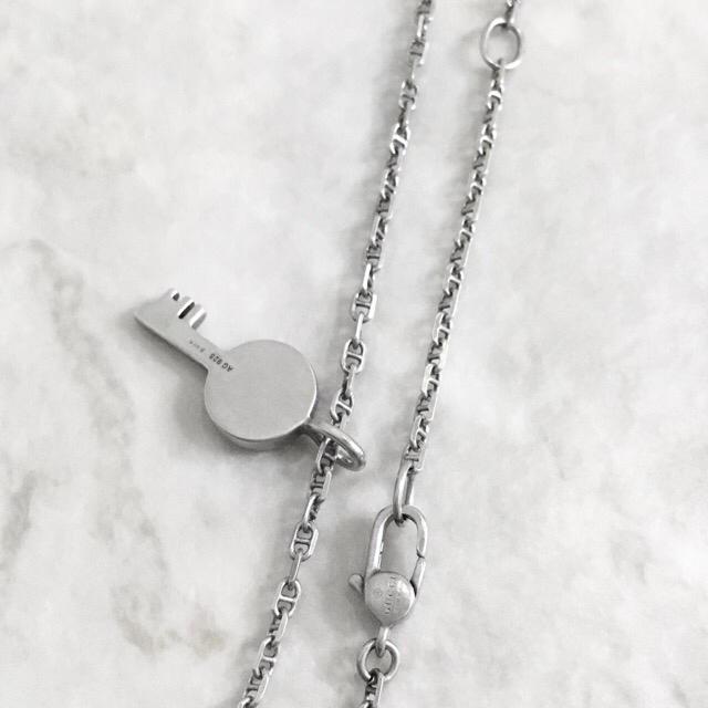 Gucci(グッチ)の正規品 グッチ ネックレス カギ 鍵 シルバー SV925 銀 キー チェーン メンズのアクセサリー(ネックレス)の商品写真