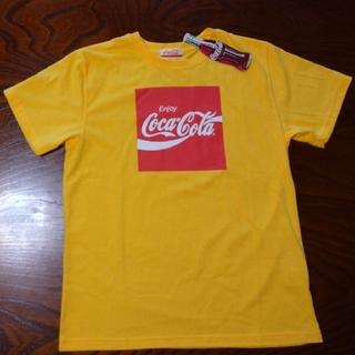 コカコーラ(コカ・コーラ)の新品タグ付き!    コカ・コーラ Tシャツ   M    イエロー   メンズ(Tシャツ/カットソー(半袖/袖なし))