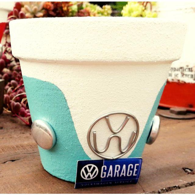F0918b⑩ ワーゲン鉢B☆ペールグリーン 1個 ハンドメイドのフラワー/ガーデン(その他)の商品写真