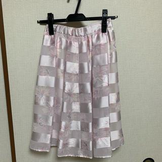 マーキュリーデュオ(MERCURYDUO)の膝丈 花柄スカート MERCURYDUO(ひざ丈スカート)